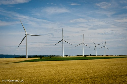 Wind mills in the Lauragais